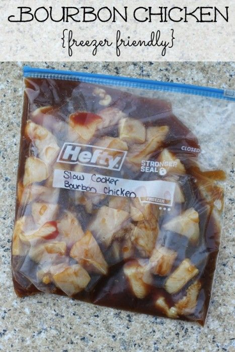 Bourbon Chicken - Freezer to Slow Cooker Meals