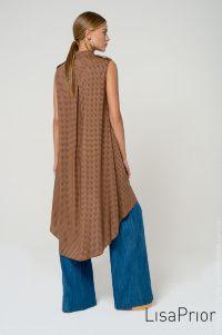 Платье-рубашка с мелким принтом