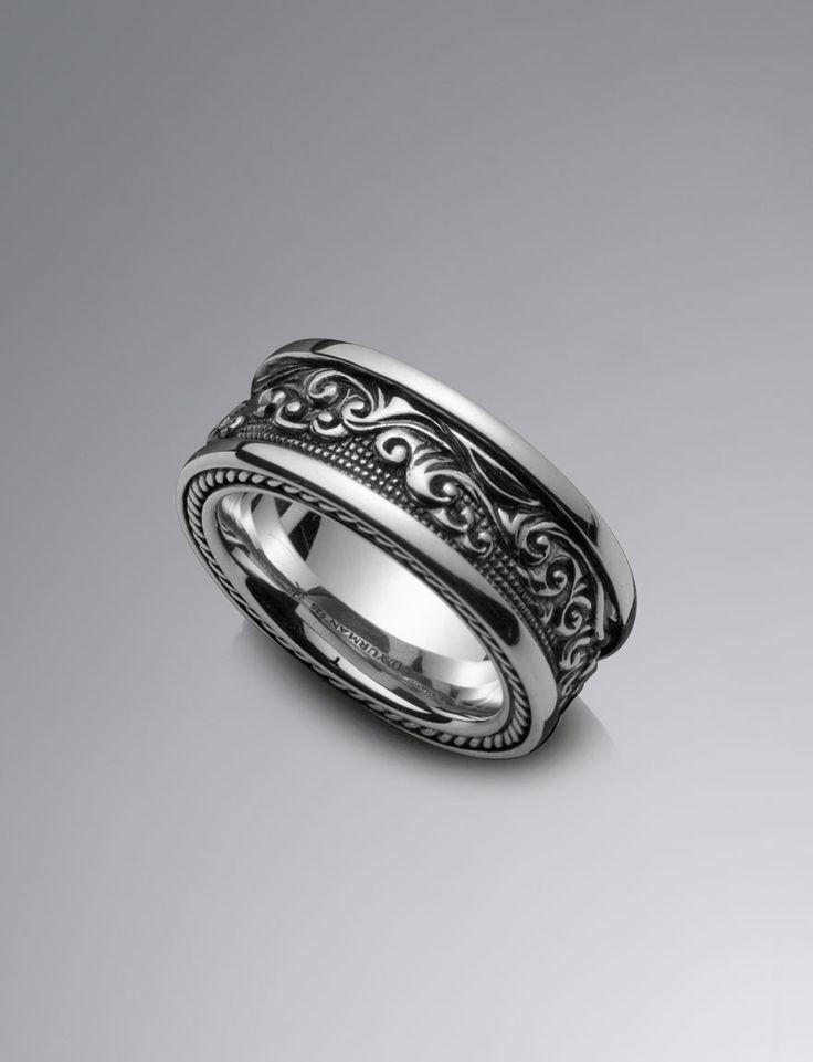 Waves band ring 11mm men rings david yurman for David yurman inspired jewelry rings