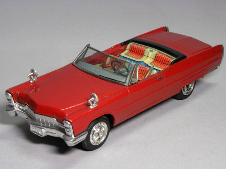 RARE Cadillac Eldorado Type1966 Tin Toy Electric Car Bandai Japan HTF 1454