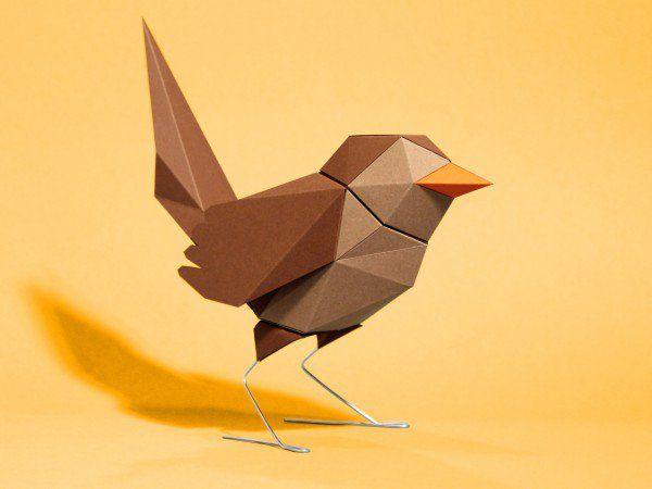 die besten 25 3d origami tiere anleitung ideen auf. Black Bedroom Furniture Sets. Home Design Ideas