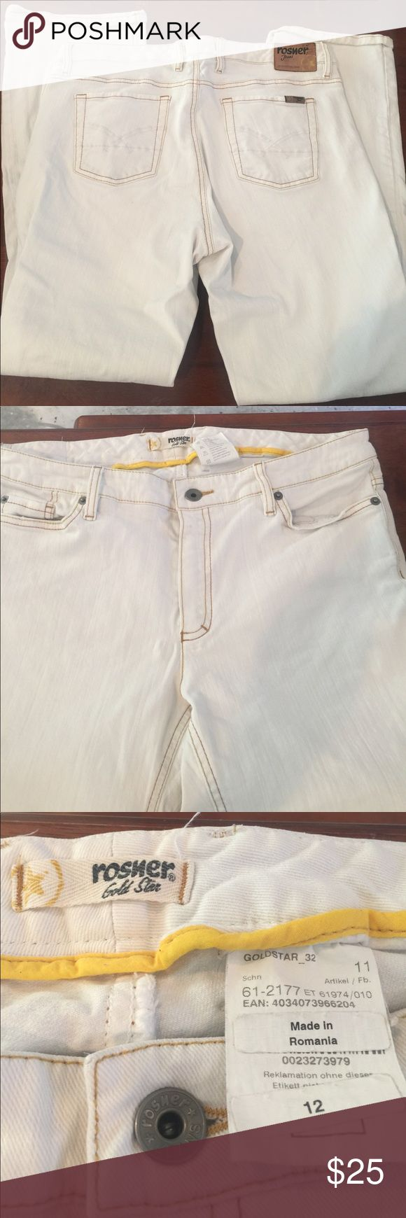 Rosner white jeans White Rosner jeans size 12. No fraying on the hems. Rosner Jeans Boot Cut