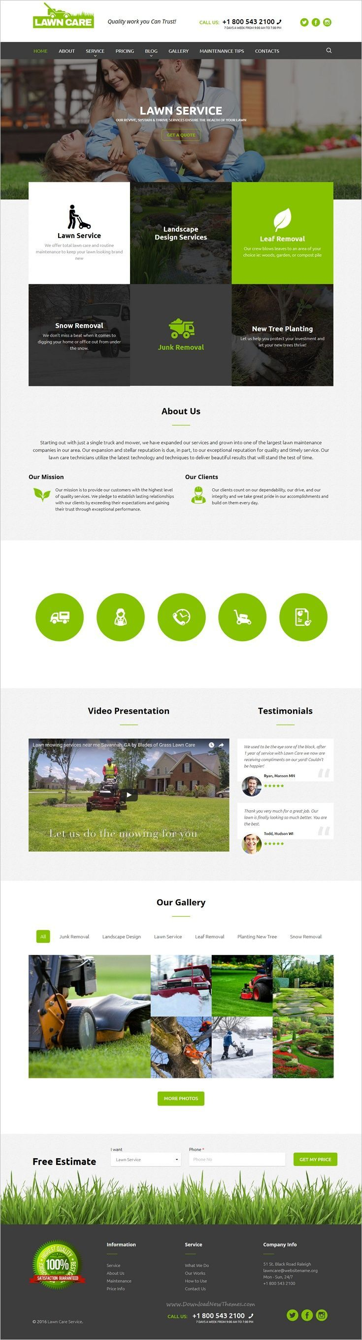 Lawn care is a wonderful responsive #WordPress theme for #gardening, #landscape design services websites download now➩ https://themeforest.net/item/lawn-care-services-wordpress-website-theme/19136039?ref=Datasata