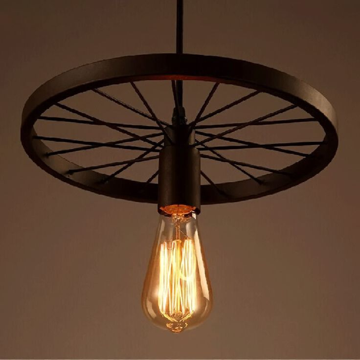 loft rotterdam industrial rock pendant lighting. Vintage Loft Retro DIY Industrial Iron Wheel Ceiling Light Pendant Lamp Fixture Rotterdam Rock Lighting