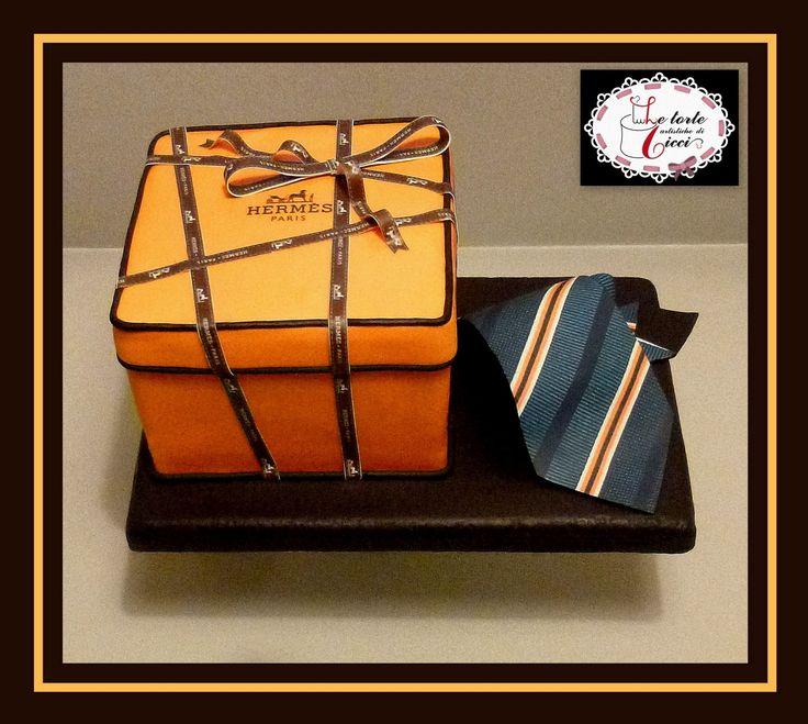 Fashion cake for man:Hermès