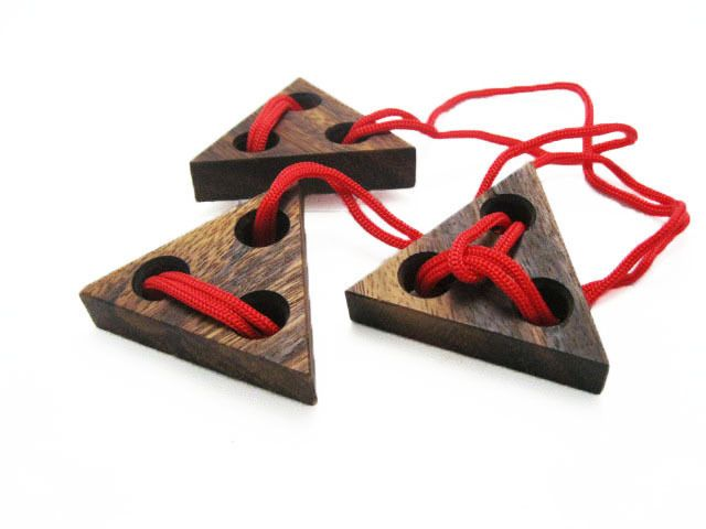 STRING & TRIANGLE, Wooden Puzzle Game, Strategy Game, Brain Teaser, Travel size #WoodenGamesToyshandmade