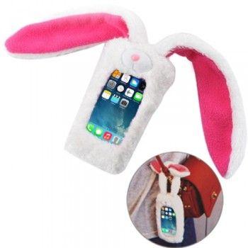 Memo Rabbit Style Plush Doll iPhone 5 & 5S Case - White