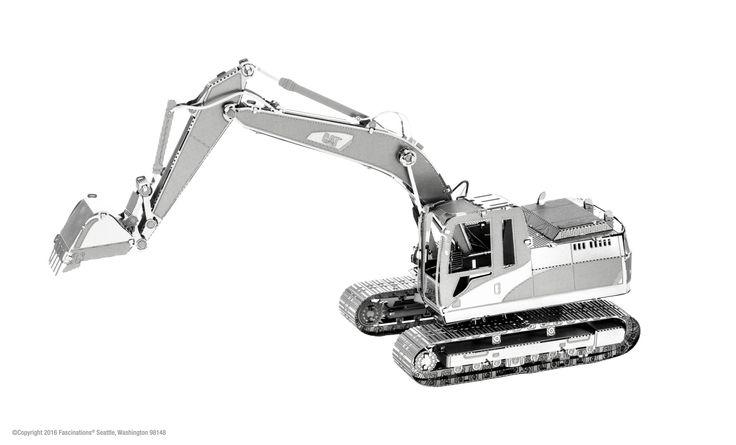 Metal Earth 3D Laser Cut Model Kit CAT Excavator