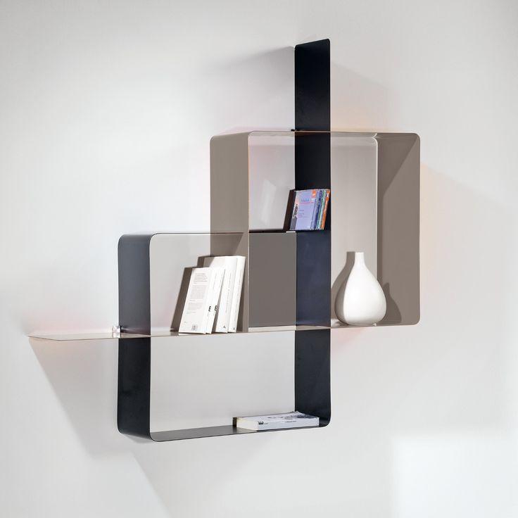 Libreria moderna in metallo Mondrian