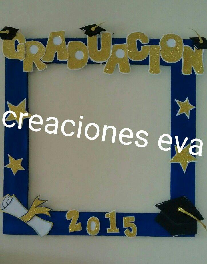 Marco selfil motivo graduaci n photocall pinterest for Decoracion de grado
