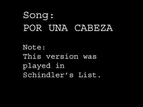Por Una Cabeza Played In Schindler's List