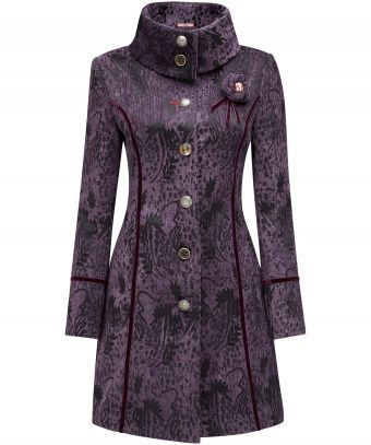 Wrap up in style with this beautiful coat. Gorgeous textured brocade fabric gives it true wow factor. With a pretty corsage and unique collar design, it's no wonder this is a Joe Browns favourite. Approx Length: 90cm Our model is: 5'7""