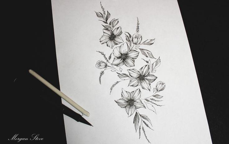 New flowers for tattoo Art by MorganSteve