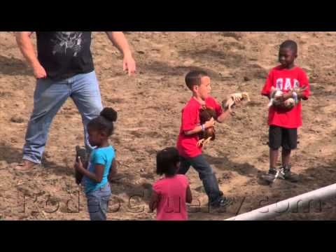 Watch video! We're a real civilized people, let me tell you.  This is the shit people are teaching their kids; that it's okay to not care about anyone or anything, but yourself.Riverdale Rodeo Barnyard Scramble