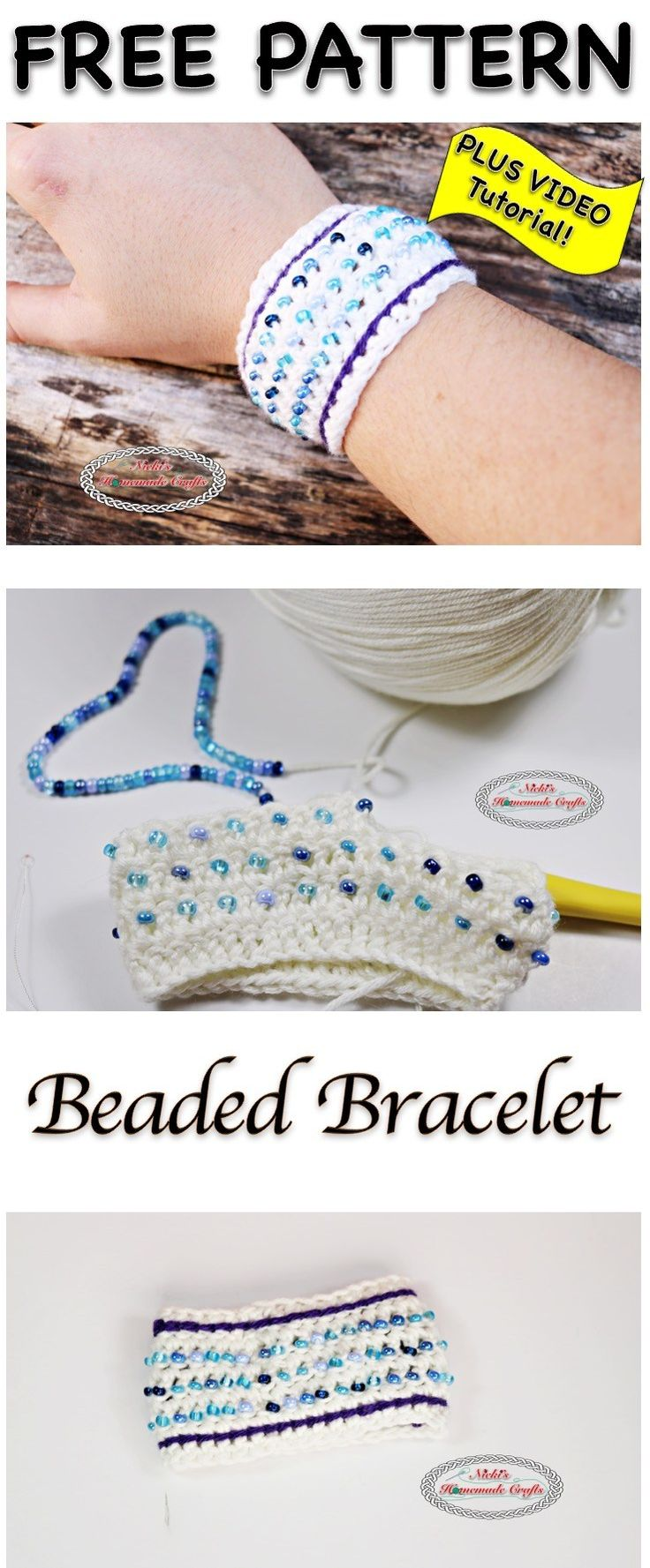 Beaded Bracelet - Free Crochet Pattern