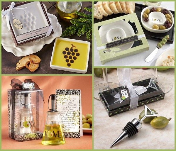 Olive & Olive Oil Party Favors from HotRef.com