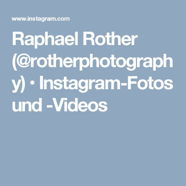 Raphael Rother (@rotherphotography) • Instagram-Fotos und -Videos