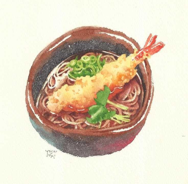 天ぷら蕎麦。