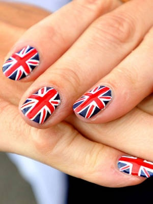 The coolest Olympic nail art #Olympics #nails