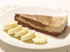 raw banánový cheesecake