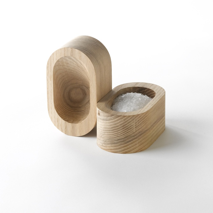 cedar salt cellarKitchens, Modern Wood, Wood Salts, Sea Salts, Grains Salts, Salts Cellars, Design, Hostess Gift, Salts Dishes