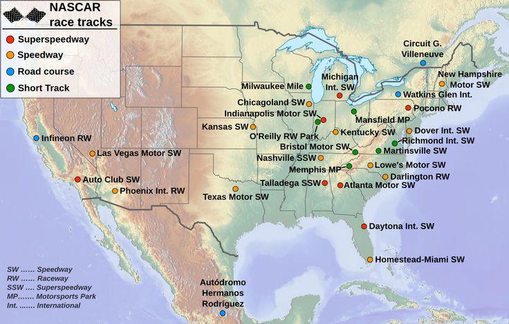 nascar tracks pics | File:Nascar race tracks-en.png - Wikipedia, the free encyclopedia