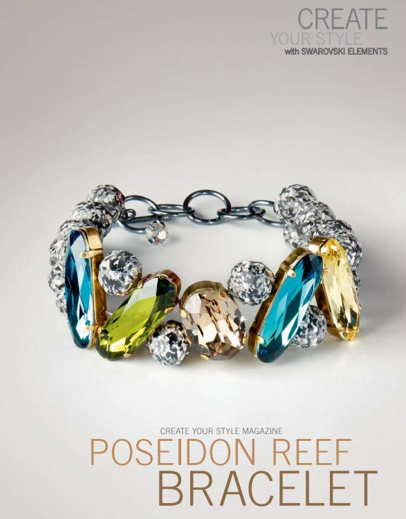 swarovski elements poseidon reef bracelet design and free instructions - Bracelet Design Ideas