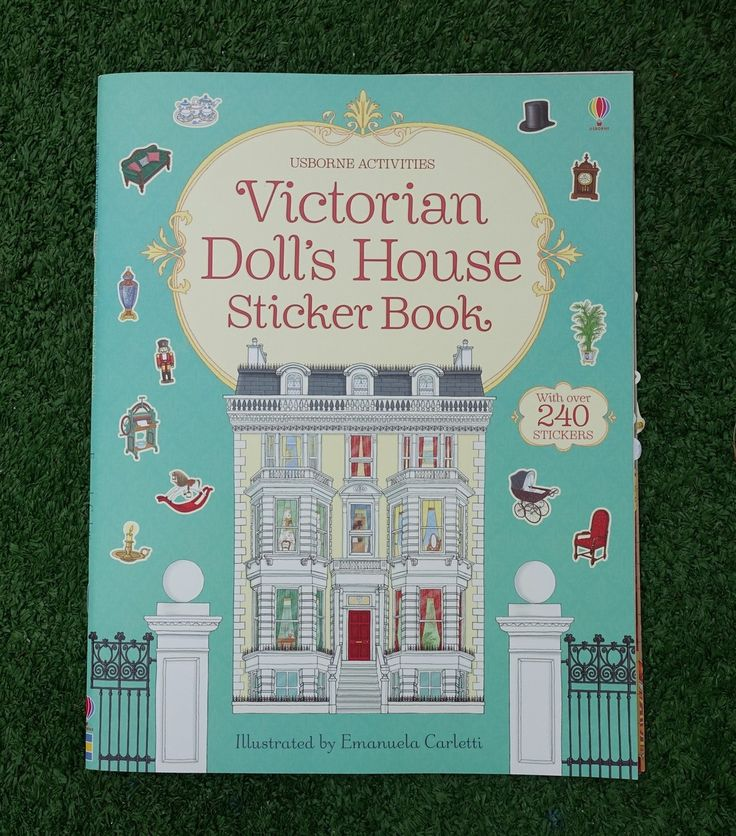 Викторианский кукольный домик - книжка с наклейками