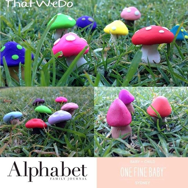 We made these cuties for Alphabet Family Journal's stand at One Fine Baby, they were used in Terrarium making!
