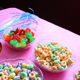 Chevron Sesame Street Birthday Party - foods used for jewelry making
