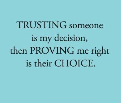dating someone you cant trust There is a reason you always think he's texting his ex  even when he's not resolving trust issues starts with learning to truly trust yourself before you can trust someone.