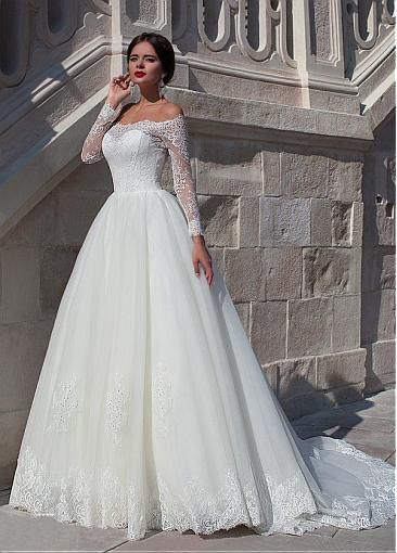 Fall Wedding Gowns  - Pretty long sleeved lace wedding gowns