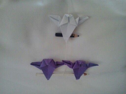 Mobile con gufi fatti ad origami