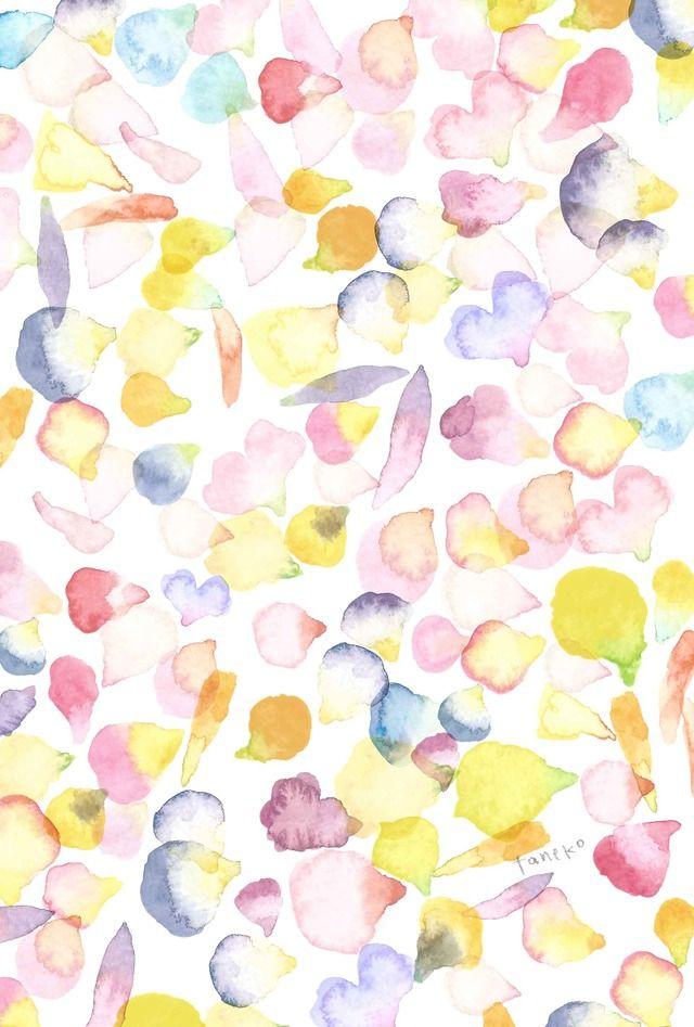 カラフルな花びらを描きました。 全体的に色は薄めなので、濃い色のペンなら全面にメッセージも書けます☆ ●エンボス加工の無地のハガキに、インクジェットで印刷しています●3枚セットで300円。他に気に入られたデザインのカードがございましたら、異種3枚セットに...