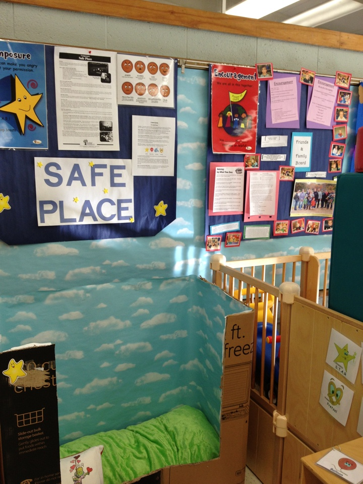 """Check out this Safe Place! #iheartcd Thank you Ruthann for sharing! Ruthann wrote, """"This is our Safe Place in the Winsted Family Resource Center playroom for our Parents as Teachers program. We're located in the Batcheller Early Education Center in Winsted, CT."""""""