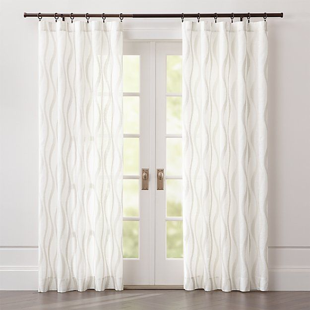 Elester Ivory Sheer Curtain Panel Crate And Barrel In 2020