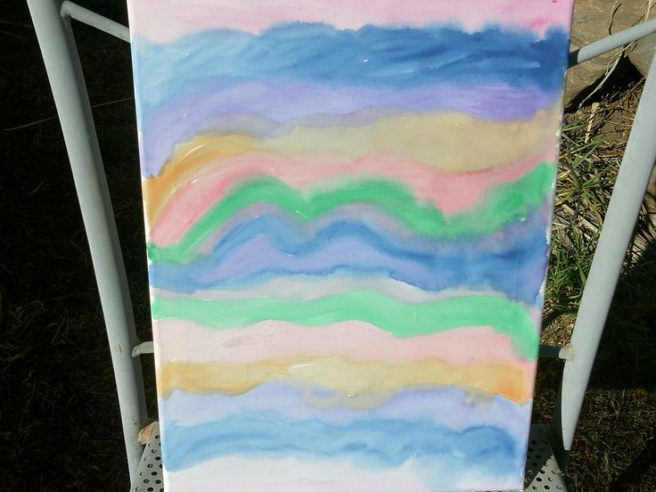 watercolour canvas abstract painting $20