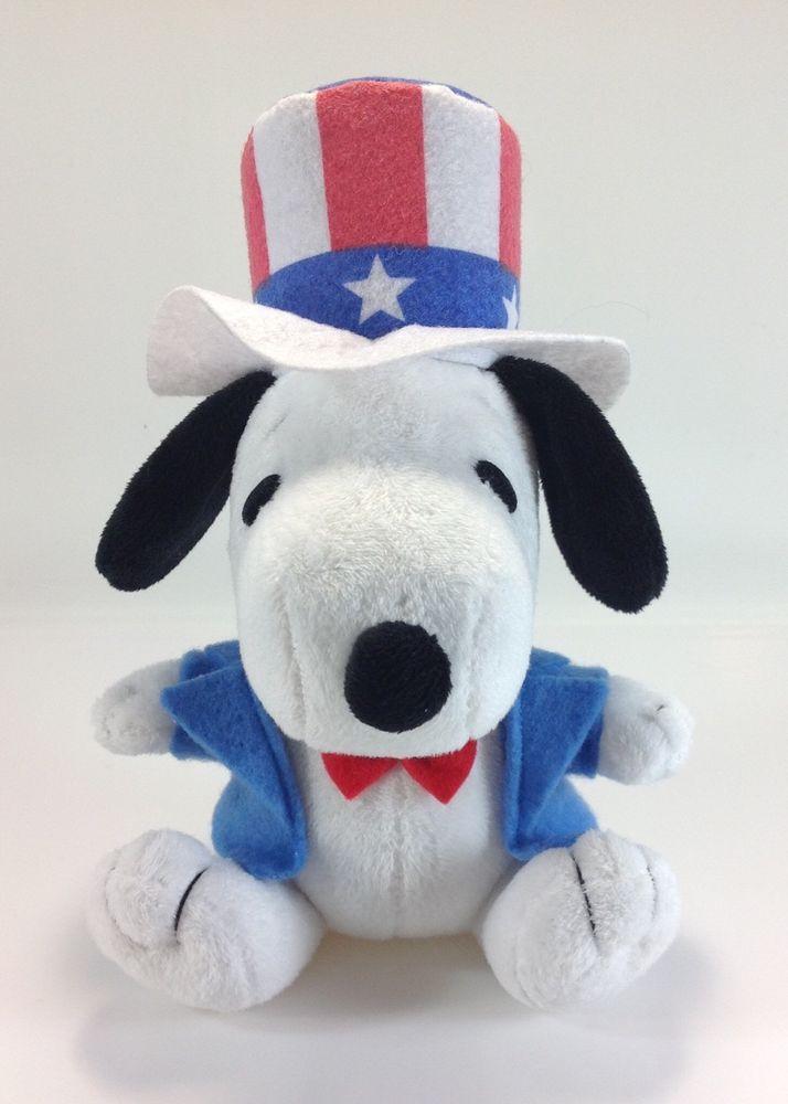 "MetLife Snoopy for President Patriotic 6 5"" Plush Peanuts   eBay"