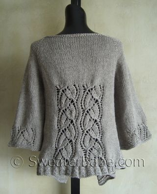 Dramatic Lace Top-Down Wrap Cardigan