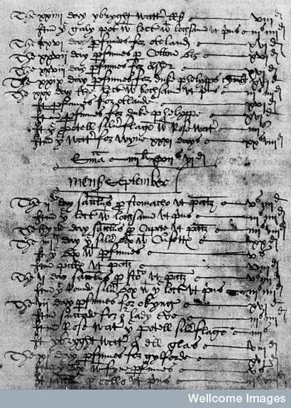 Thomas Alsop: apothecary to Henry VIII. Account for medicines prepared for Henry VIII, 1546.