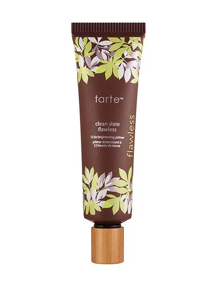 If you have #oilyskin... You probably already know about primers' oil-absorbing benefits. What we'll add: Look for ones that also contain light diffusers and brightening botanicals. We like Tarte Clean Slate Flawless Primer.