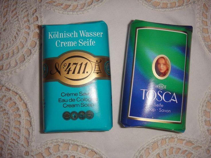 Echt Kölnisch Wasser und Tosca Seife 2 x 100 g  4 Gästetücher orange-weiß orang