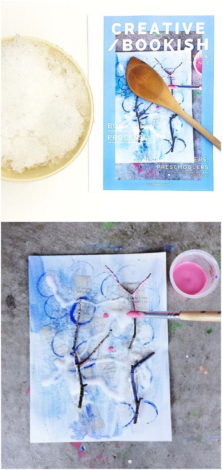Watercolor books for kids - Snow Process Art For Kids From Free Digital Magazine Creative Bookish Kids Art And