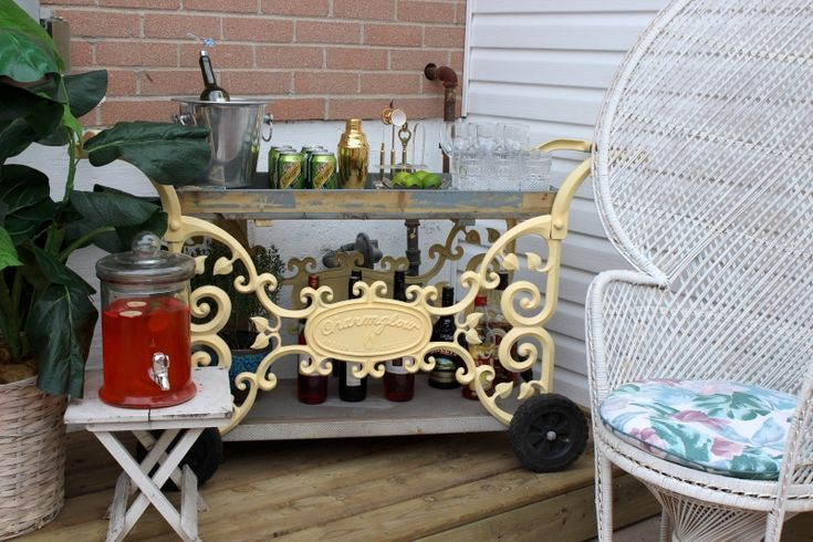 How to style an ourdoor bar cart