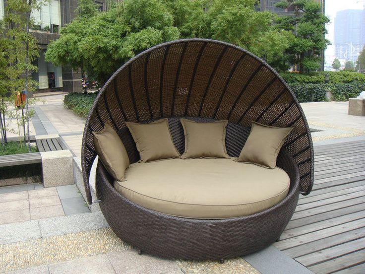 China Outdoor Rattan Furniture , Aluminium Frame Resin Wicker Daybed  Supplier