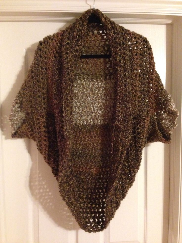 Super easy and classy crochet shrug from lions brand yarn ...