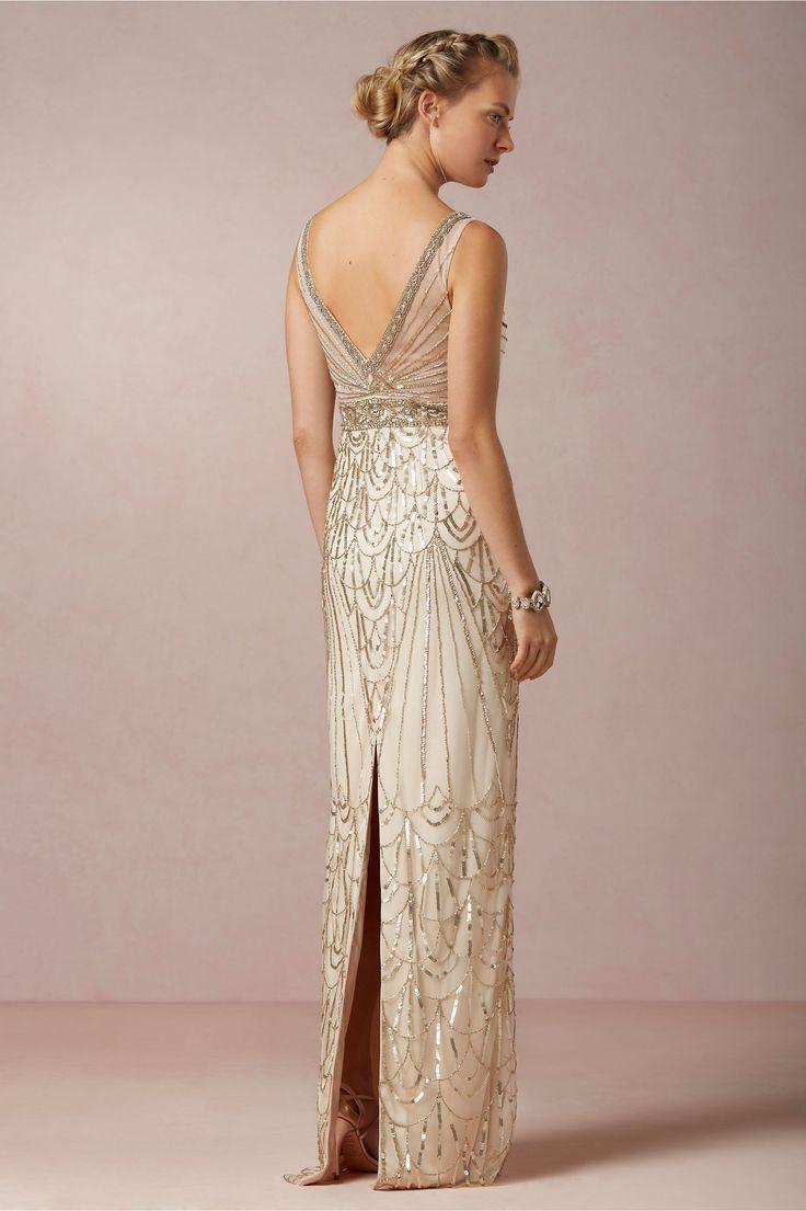 Best 25 1920s wedding dresses ideas on pinterest art deco maxine gown bhldn 80000 1920s art deco great gatsby wedding dress ombrellifo Images