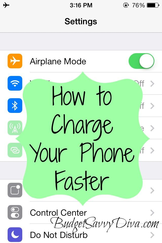 How to Charge Your Phone Faster #budgettip #diy #budgetsavvydiva