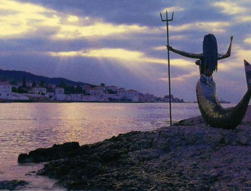 Spetses mermaid sunset! Wow!