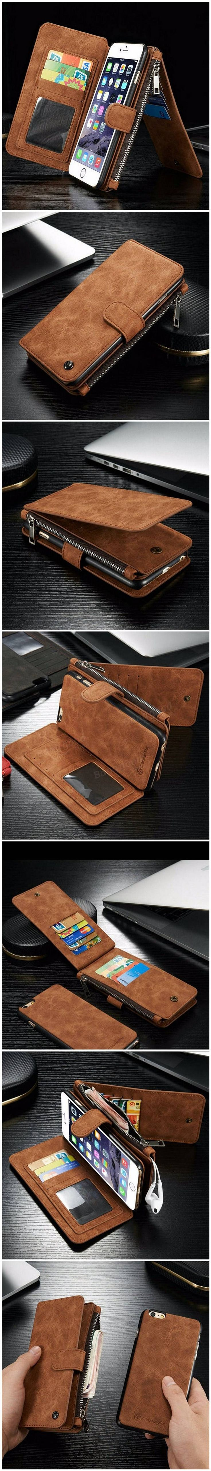 PU Leather Case Flip Wallet Card Bag Case Phone Cover For Apple iPhone 6/6s Plus